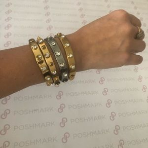 JUICY COUTURE Bangles, Set of 4...Silver & Gold